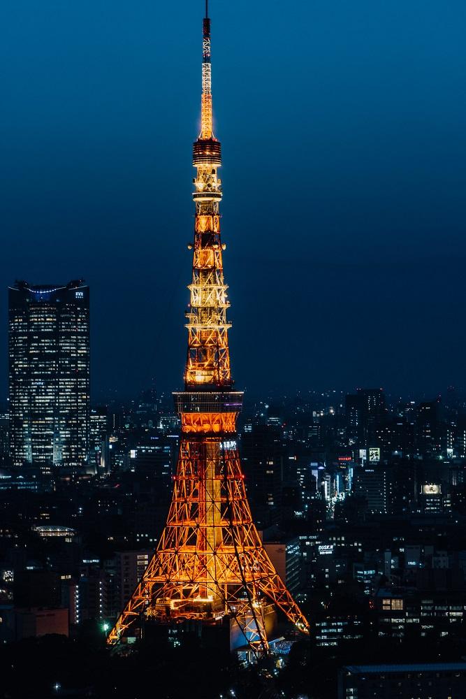Tokyo Tower nocą
